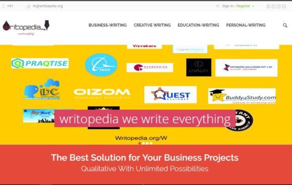 wriropedia-web-580x368 Welcome to Writopedia, We Write Everything - Content Writing Agency