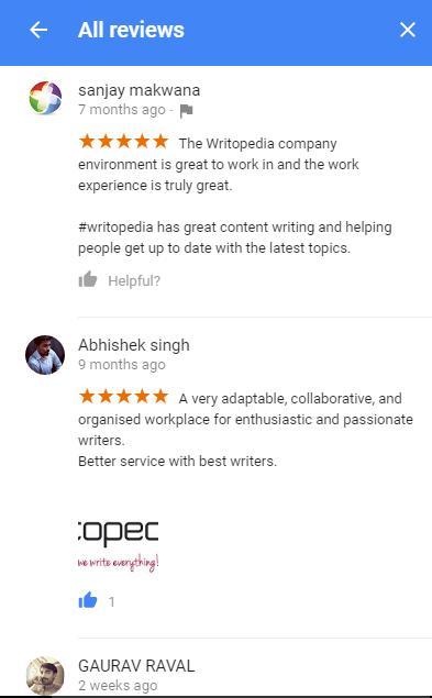 Reviews for Writopedia - My Business